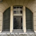 Außenraffstores Stichbogenfenster