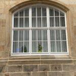 Lamellen Stichbogenfenster