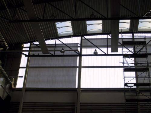 Blendschutz für die Industriehalle Mühlheim
