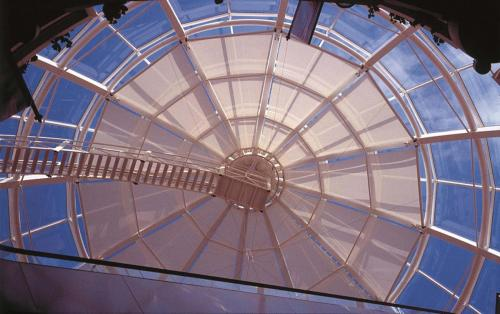 Glaskuppel-Blendschutz
