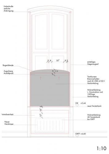 Verdunkelungsanlage Fensterbank